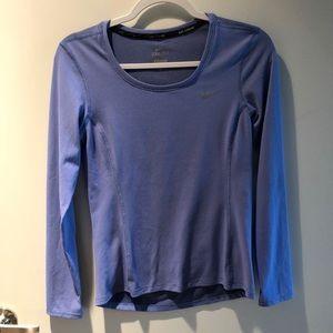Nike Dri-Fit running shirt, light blue, XS